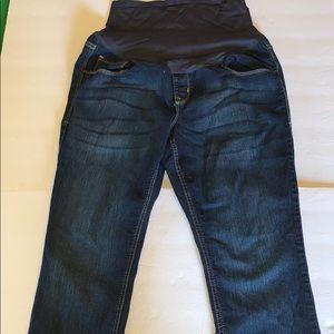 Dark Wash Full Panel Maternity Jeans